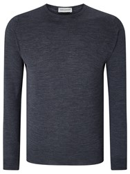John Smedley Lundy Merino Crew Neck Jumper Charcoal