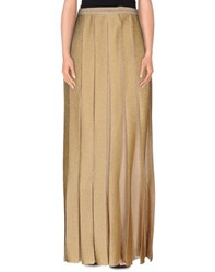 Missoni Skirts Long Skirts Women Gold
