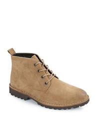 Kenneth Cole Lugxury Suede Chukka Boots Camel