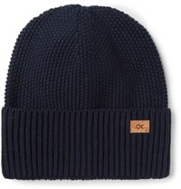 Outerknown Trail Organic Cotton And Baby Alpaca Blend Beanie Navy