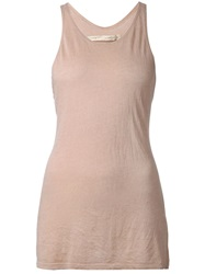 Raquel Allegra Racerback Tank Top Nude And Neutrals