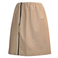 Claire Andrew Nude Leather Sport Luxe Skirt Nude Neutrals