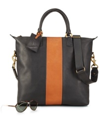 Polo Ralph Lauren Two Toned Leather Zip Tote