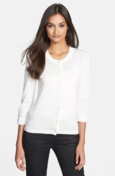 Women's Kate Spade New York 'Somerset' Cotton Blend Cardigan Cream