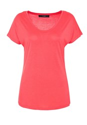 Hallhuber Basic Round Neck Top Pink