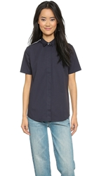 Paul Smith Short Sleeve Colorblock Shirt Navy