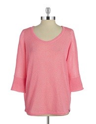Marc New York Performance Solid Knit Pullover Hot Pink