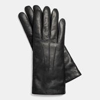 Coach Short Leather Glove Black