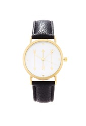 Forever 21 Arrows Analog Watch Gold Black