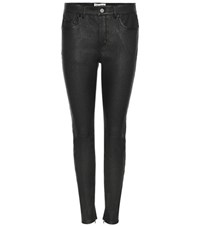Saint Laurent Skinny Leather Trousers Black