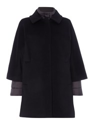 Hugo Boss Pacena 2 In 1 Wool And Down Coat Black