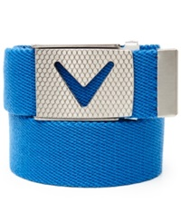 Callaway Cut To Fit Solid Webbed Belt Magnetic Blue