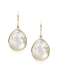 Ippolita Polished Rock Candy Mother Of Pearl And 18K Yellow Gold Mini Teardrop Earrings