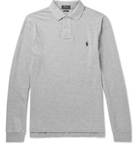 Polo Ralph Lauren Lim Fit Cotton Pique Hirt Gray