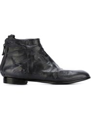 Silvano Sassetti Distressed Flat Ankle Boots Grey