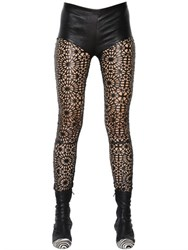 Haider Ackermann Lace Effect Nappa Leather Leggings