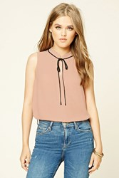 Forever 21 Chiffon Tie Neck Blouse