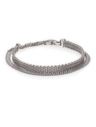 Sterling Silver Mesh And Chain Bracelet