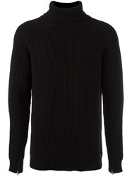 Bark Turtleneck Sweater Black