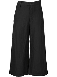 Ziggy Chen Cropped Trousers Black
