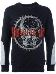 Philipp Plein Skull Embellished Sweatshirt Black