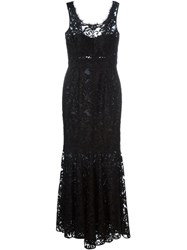 Dolce And Gabbana Brocade Gown Black