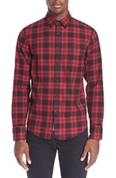 Rag And Bone Men's Rag And Bone Trim Fit Plaid Three Quarter Placket Shirt