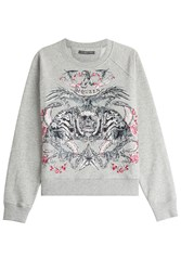 Alexander Mcqueen Logo Embroidered Sweatshirt Grey