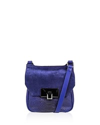 Kooba Gable Snake Embossed Mini Crossbody Bag Compare At 198 Cobalt