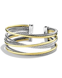 Crossover Four Row Cuff With Gold David Yurman