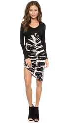 Young Fabulous And Broke Blais Mini Dress Black Skeleton Wash