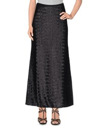 Peacock Blue Skirts Long Skirts Women Black