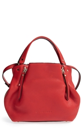 Burberry 'Small Maidstone' Leather Satchel Cadmium Red