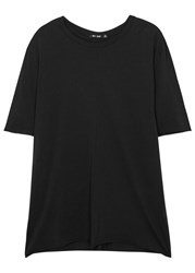 Blk Dnm Black Zip Embellished Cotton T Shirt
