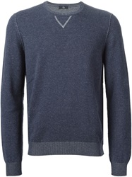 Fay Crew Neck Sweater Blue