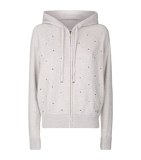 Juicy Couture Embellished Cashmere Hoodie Female Brown