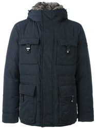Peuterey Flap Pockets Hooded Jacket Blue