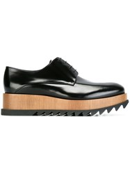 Jil Sander Platform Oxford Shoes Black