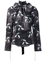 Marc Jacobs Mouse Print Blouse Black