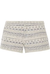 Joie Merci Metallic Tweed Shorts White