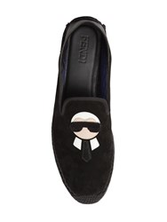 Fendi Karl Patch Suede Espadrilles