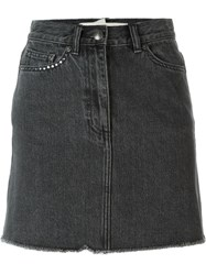 Marc By Marc Jacobs Cherry Patch Denim Skirt Black