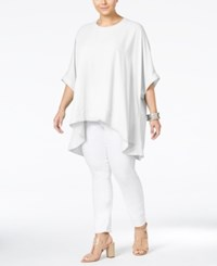 Melissa Mccarthy Seven7 Trendy Plus Size Button Back Relaxed Blouse White