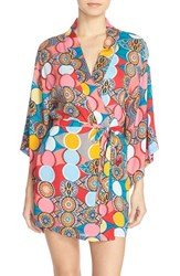 Women's Josie 'Glass Lights' Happi Coat Robe Blue Multi
