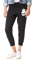 Spiritual Gangster Namaste Stripes Sweatpants Vintage Black