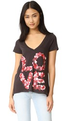 Chaser Rose Petals Love Tee Black