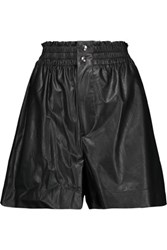 Etoile Isabel Marant Jervis Faux Leather Shorts Black