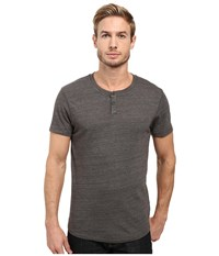 Alternative Apparel Eco Jersey Shirttail Henley Eco True Tarmac Men's Long Sleeve Pullover Gray
