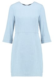 Warehouse Denim Dress Light Wash Light Blue Denim