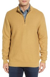 Cutter And Buck Men's Big Tall 'Benson' Quarter Zip Textured Knit Sweater Glaise